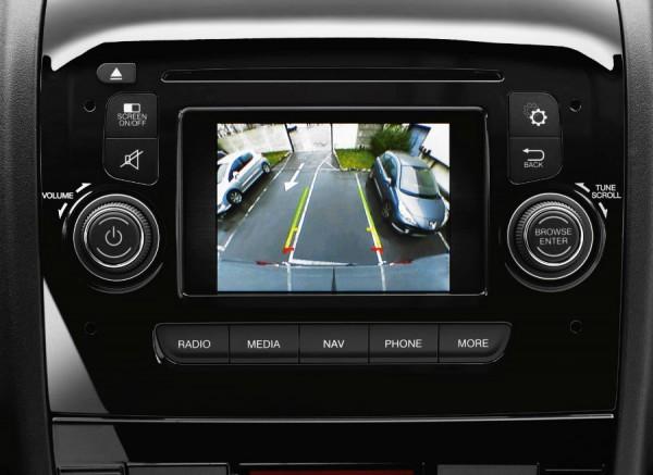 El nuevo Peugeot Boxer cuenta con cámara de visión trasera.