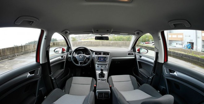 Prueba VW Golf 1.6 TDi Bluemotion, interior, Rubén Fidalgo