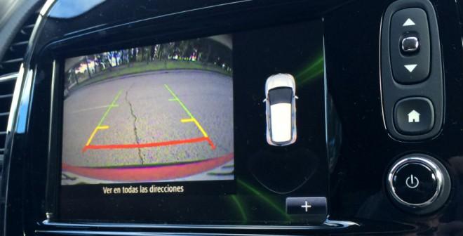 La cámara de visión trasera funciona a las mil maravillas en el Renault Captur.