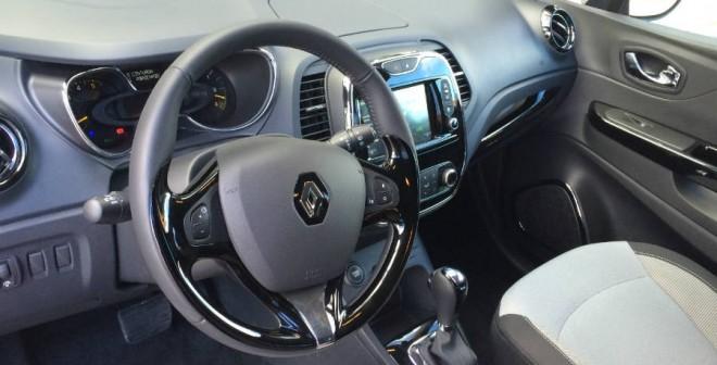 El interior del Renault Captur tiene un diseño fresco y juvenil.