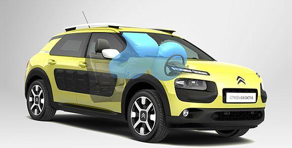 El Citroën C4 Cactus incorpora un nuevo airbag de techo