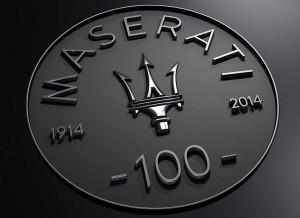 Logo del centenario de Maserati.