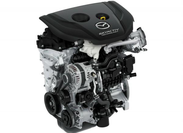 El nuevo motor de Mazda tiene una potencia de 105 CV.