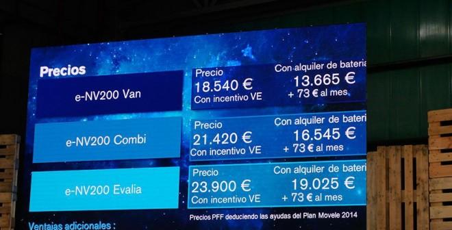 Presentación y prueba del Nissan e-NV 200 2014, precios, Rubén Fidalgo