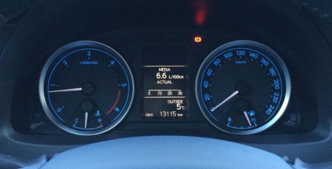 Durante la semana que estuvo en nuestro poder, el gasto medio de combustible del Auris ST fue de 6,6 l/100 km.