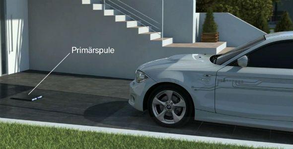 BMW crea una nueva estación de carga por inducción