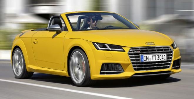 El Audi TTS Roadster llega al mercado a principios de 2015, algo más tarde que el TT Roadster convencional.