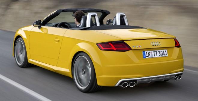 El Audi TTS Roadster presenta una serie de colores exclusivos para su carrocería.