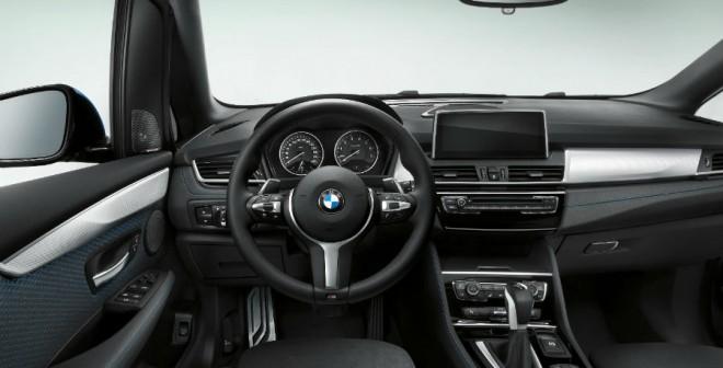 El interior del Serie 2 Active Tourer varía en algunos detalles respecto a los últimos modelos de BMW.