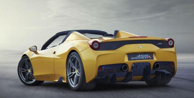 La zaga del Ferrari 458 Speciale A es tremendamente espectacular.