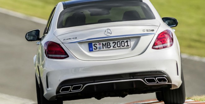 Logotipo AMG y cuatro salidas de escape... pinta bien el nuevo vástago de Mercedes.