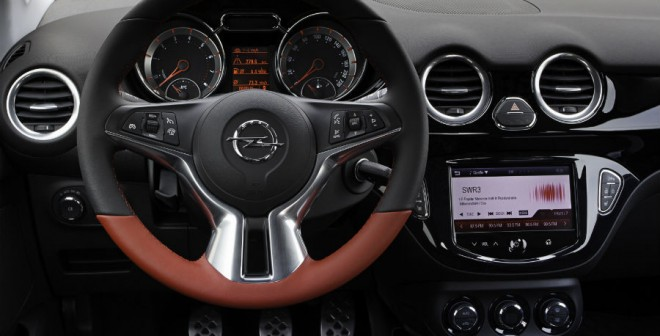 El interior del Opel Adam Rocks es totalmente personalizable.