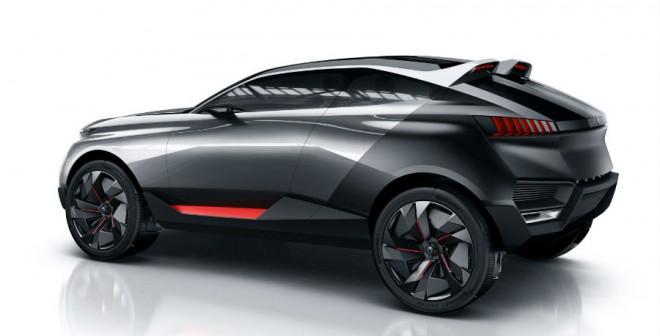 El aspecto estético del Peugeot Quartz Concept es de lo más agresivo.