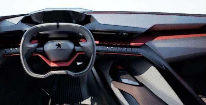 El interior del Peugeot Quartz Concept es, como en todo prototipo, muy futurista.