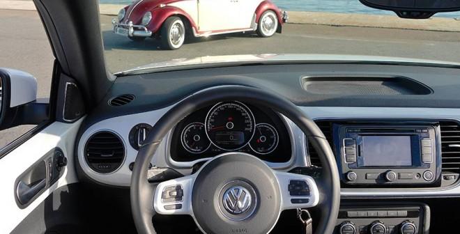 Prueba VW Beetle Cabrio 2.0 TDi 140 CV 2014, interior, Rubén Fidalgo