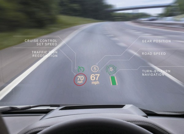 Range Rover Evoque Head Up Display