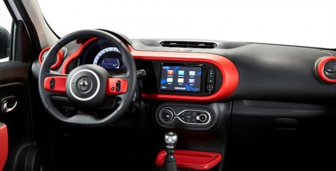 El interior del Renault Twingo es simpático y personalizable.