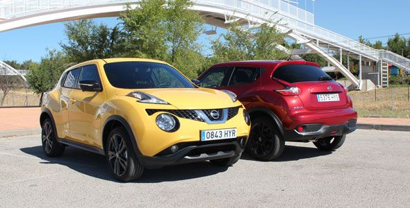 Comparativa: nuevo Nissan Juke 4×2 2015 gasolina vs. diésel