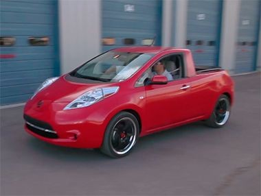 El Nissan Leaf Pick-Up, en vídeo