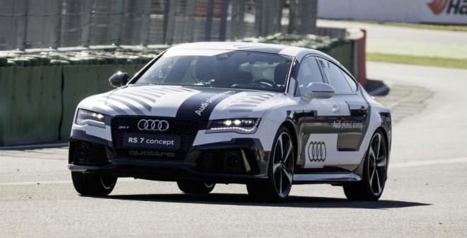 El Audi RS 7 Piloted Driving Concept completó, sin nadie al volante, una vuelta en Hockenheim a ritmo de carrera.