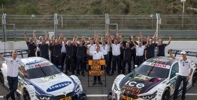 BMW ha celebrado por todo lo alto la consecución del título del DTM esta temporada.