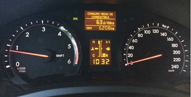 El gasto de combustible de esta versión del Toyota Avensis es más que aceptable.