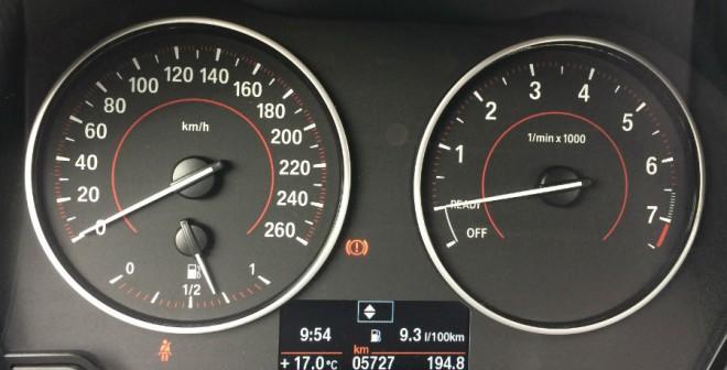 El consumo de combustible, a pesar de lo que marca el ordenador de a bordo en el momento de la foto, quedó fijado al final de la semana en 8,7 l/100 km.