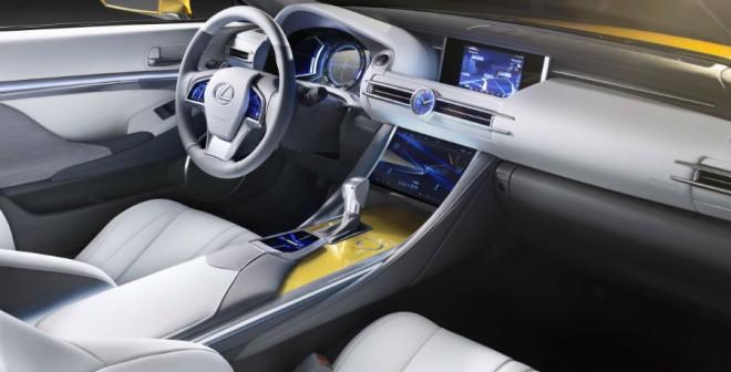 El interior del Lexus LF-C2 Concept es razonablemente realista, a pesar de tratarse de un prototipo.