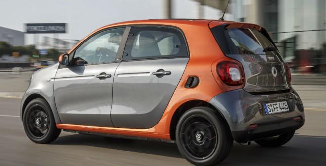 El parecido entre el Smart ForFour y el Renault Twingo es, lógicamente, más que razonable.