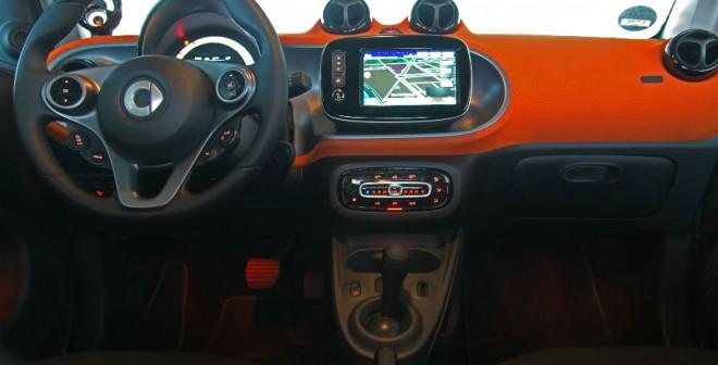 El interior del Smart ForTwo va a juego con la imagen exterior que elijas.