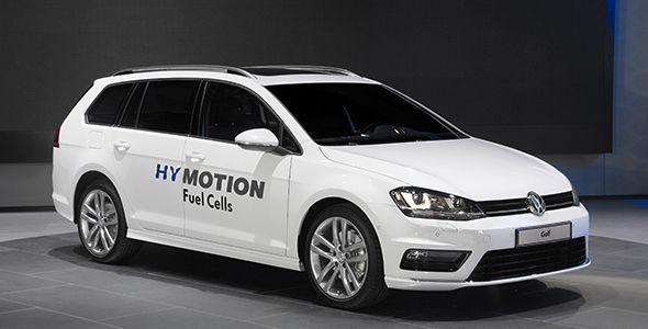 VW Golf SportWagen HyMotion, con pila de hidrógeno