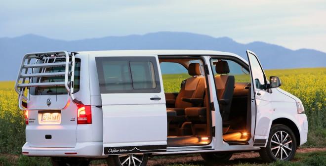 El Volkswagen Multivan destaca por su gran espacio interior.