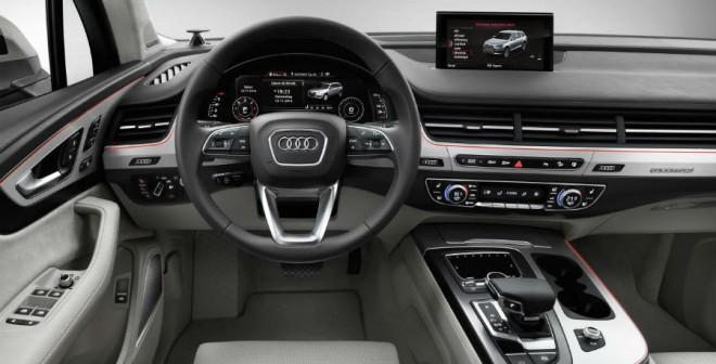 El interior del nuevo Audi Q7 también sufre un importante rediseño.