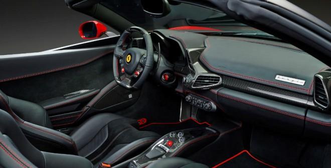 El interior del Ferrari Sergio es también totalmente personalizable.