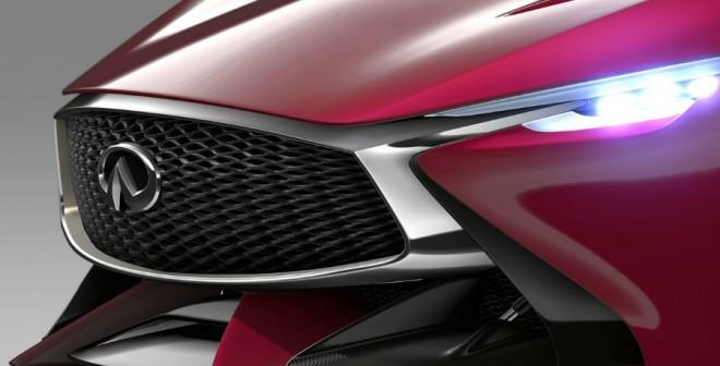 Agresividad en estado puro, así es el frontal del Infiniti Concept Vision Gran Turismo.
