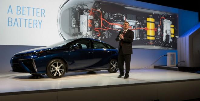 El Toyota Mirai es una de las estrellas de la marca en el CES de Las Vegas.