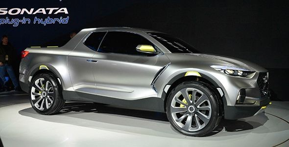 El Hyundai Santa Cruz Truck Concept en Detroit 2015