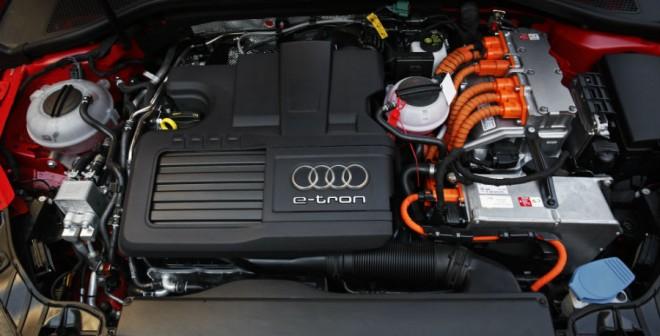 El motor del Audi A3 e-tron desarrolla una potencia conjunta de 204 CV.