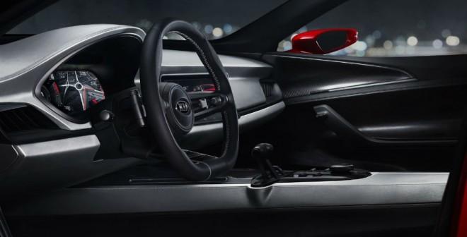 El interior del Kia Sportspace Concept tiene elementos bastante futuristas, como es habitual en los prototipos.
