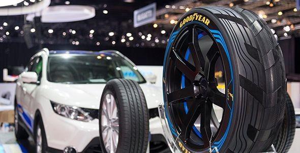 Goodyear y Dunlop muestran el neumático eléctrico en el Salón de Ginebra 2015