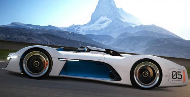 El Alpine Vision Gran Turismo cuenta con un motor V8 de 4,5 litros.
