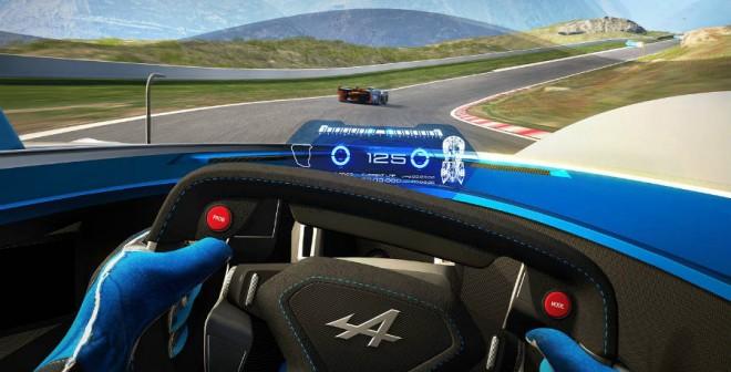 La visión que tendrá el piloto desde el cockpit del Alpine Vision Gran Turismo no será especialmente amplia.
