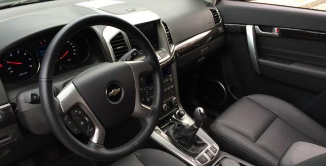 El interior del Chevrolet Captiva ofrece una gran amplitud.