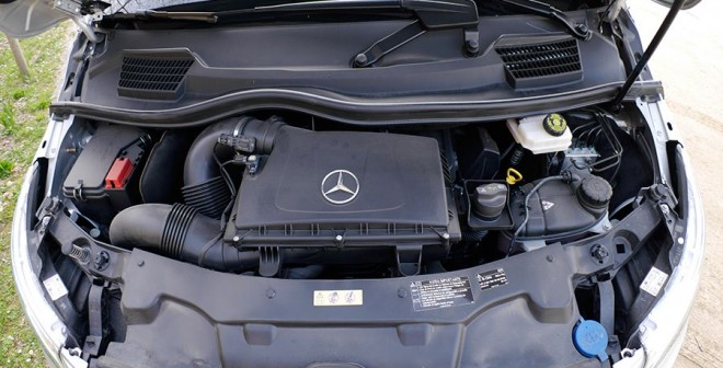 Prueba Mercedes V 220 CDi 163 CV manual 2014, motor, Rubén Fidalgo