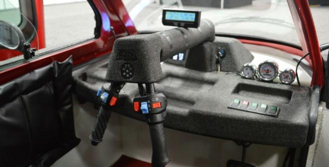 El Spira4u se controla con un manillar que tiene esta curiosa disposición.