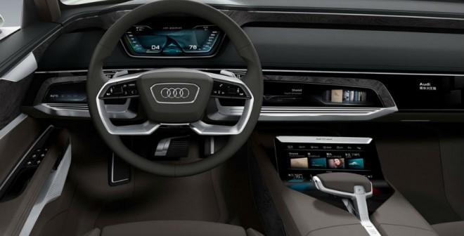 El Audi Prologue Allroad cuenta en su interior hasta con 3 pantallas táctiles.