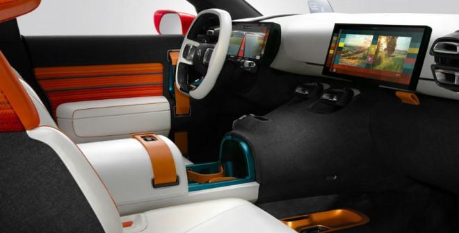 El interior del Citroën Aircross es demasiado futurista como para pensar que el modelo de producción, si es que llega, está cerca.
