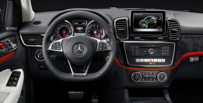 El interior del Mercedes GLE ha sido cuidado hasta el último detalle.