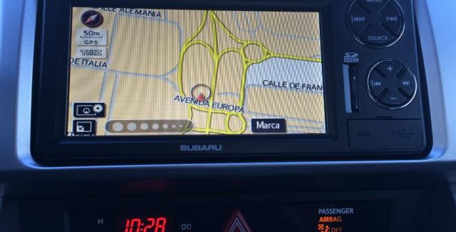 La versión que probamos del Subaru BRZ contaba con un completo navegador.