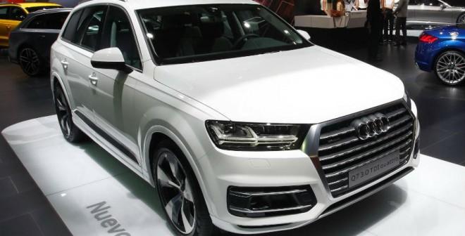 El Audi Q7 es uno de los modelos que más miradas atraerá de los presentes en el stand de la marca en Barcelona.